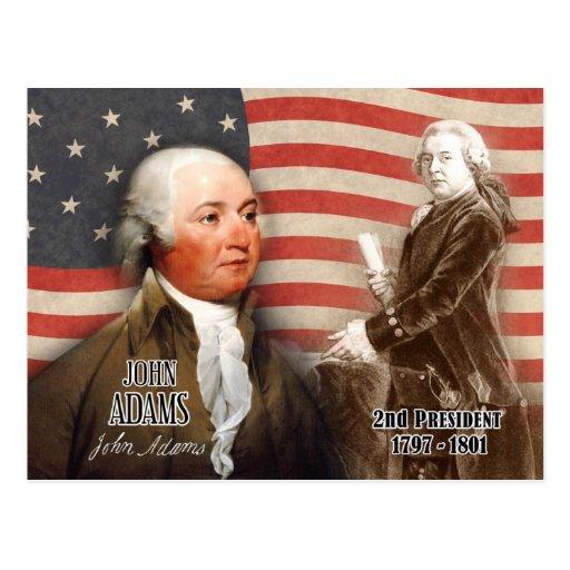 John Adams - 2do presidente de los E.E.U.U. Tarjeta Postal