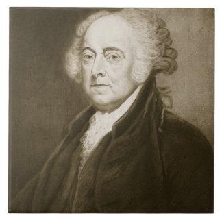 John Adams, 2do Presidente de los Estados Unidos d Azulejo Cuadrado Grande