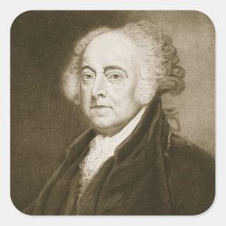 John Adams, 2do Presidente de los Estados Unidos Pegatina Cuadrada