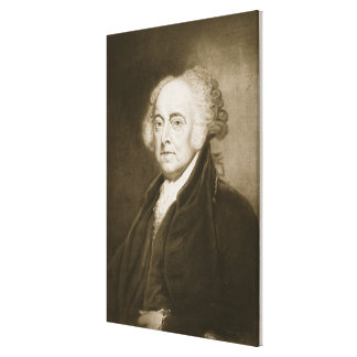 John Adams, 2nd President of the United States of Canvas Print