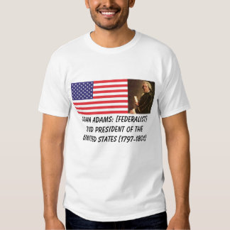 John Adams 2nd U.S. President Tees