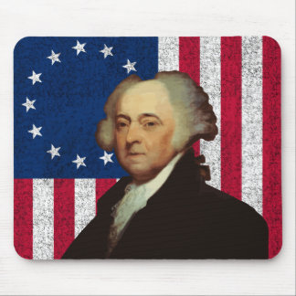 John Adams and The American Flag Mouse Pads
