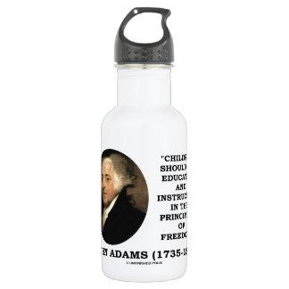 John Adams Children Instructed Principles Freedom 18oz Water Bottle
