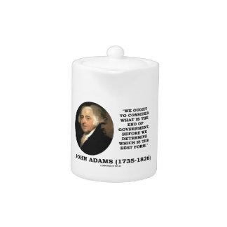 John Adams debe considerar cuál es final del