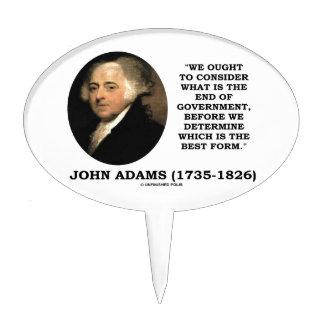 John Adams debe considerar cuál es final del Decoración De Tarta