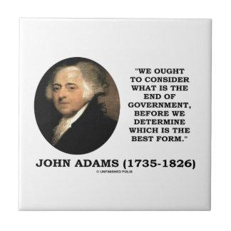 John Adams debe considerar cuál es final del Azulejo Ceramica