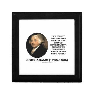 John Adams debe considerar cuál es final del Cajas De Regalo