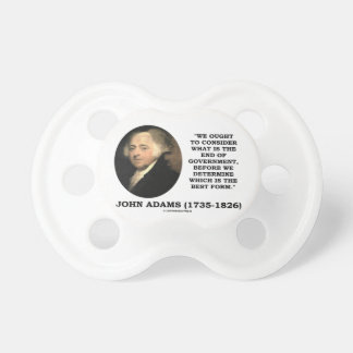 John Adams debe considerar cuál es final del Chupetes De Bebe