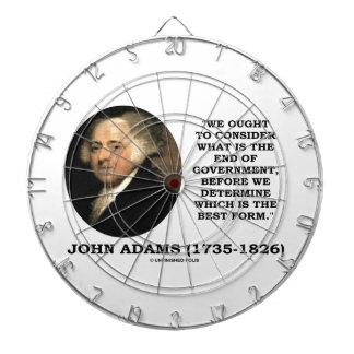 John Adams debe considerar cuál es final del Tablero De Dardos