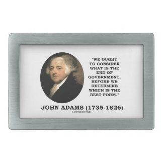 John Adams debe considerar cuál es final del Hebillas Cinturon Rectangulares