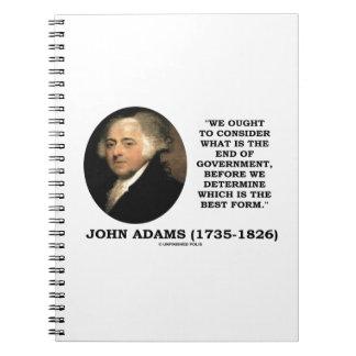 John Adams debe considerar cuál es final del Libros De Apuntes Con Espiral