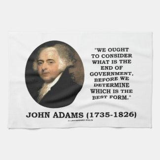 John Adams debe considerar cuál es final del Toalla De Cocina