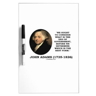 John Adams debe considerar cuál es final del Pizarra Blanca