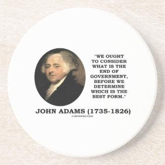 John Adams debe considerar cuál es final del Posavaso Para Bebida