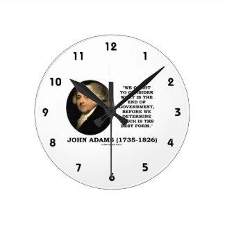 John Adams debe considerar cuál es final del Relojes