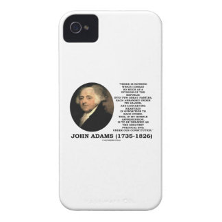 John Adams Dread Two Great Parties Political Evil iPhone 4 Case
