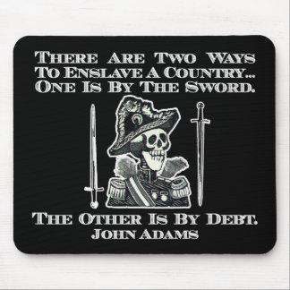 John Adams en las espadas y deuda Alfombrilla De Ratones
