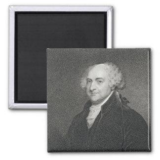John Adams, engraved by James Barton Longacre (179 2 Inch Square Magnet