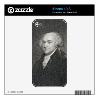 John Adams, engraved by James Barton Longacre (179 iPhone 4 Decal
