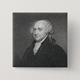 John Adams, engraved by James Barton Longacre (179 Pinback Button