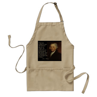 "John Adams ""Facts are stubborn things"" Quote Adult Apron"