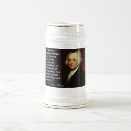 "John Adams ""Facts are stubborn things"" Quote Beer Stein"