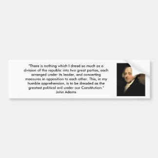 John Adams - fiestas políticos Pegatina Para Auto