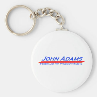 John Adams for President in 2012 Basic Round Button Keychain