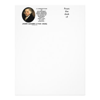 John Adams Liberty Once Lost Is Lost Forever Quote Letterhead