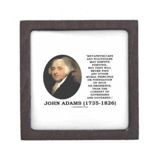 John Adams Metaphysicians Politicians Consent Premium Trinket Box