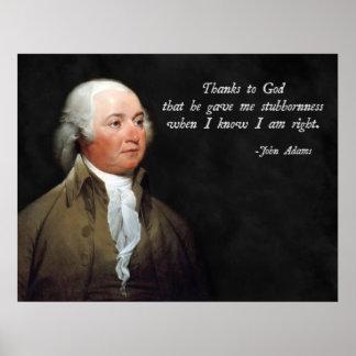 John Adams obstinado Póster
