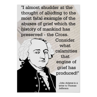 John Adams On Religion In Government Poster