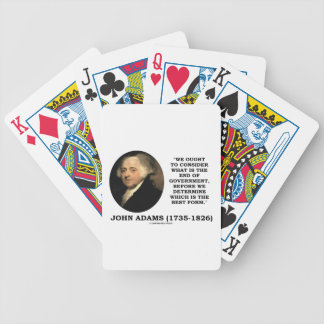 John Adams Ought To Consider What Is End Of Gov t Card Decks