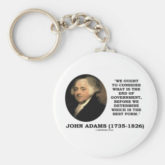 John Adams Ought To Consider What Is End Of Gov't Basic Round Button Keychain