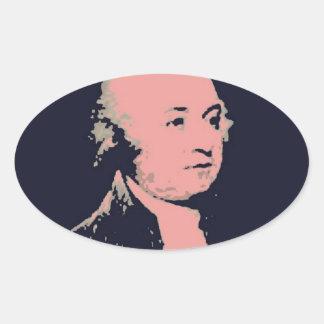 John Adams Oval Sticker