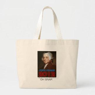 John Adams para el presidente en 2012 Oh broche Bolsa De Mano