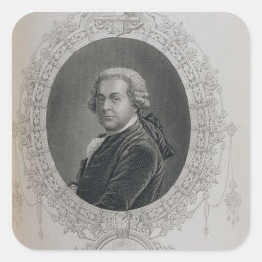 John Adams Pegatina Cuadrada