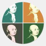 John Adams Pegatina Redonda