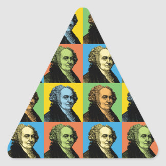 John Adams Pop-Art Triangle Sticker
