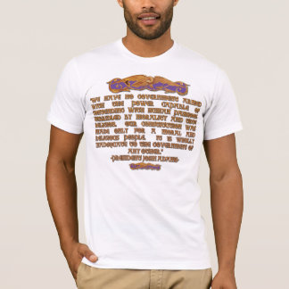 John Adams Quote: A Moral & Religious People T-Shirt