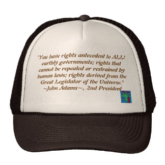 John Adams quote hat
