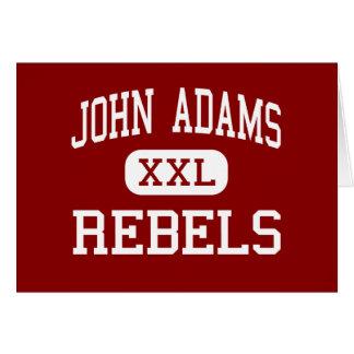 John Adams - rebeldes - High School secundaria - C Tarjeta De Felicitación