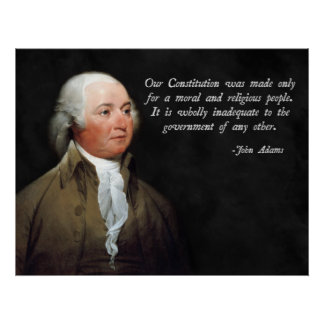 John Adams Religion Poster