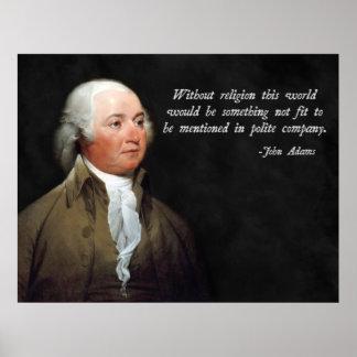 John Adams Religion Quote Poster