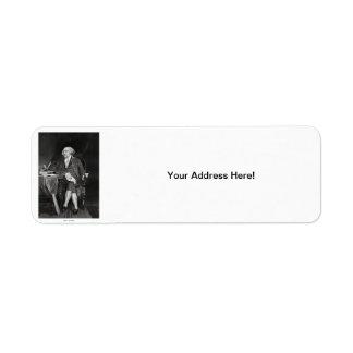 John Adams Return Address Label