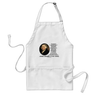 John Adams Science Of Government Politics Quote Aprons