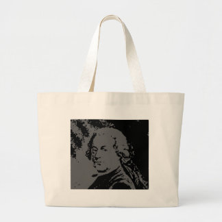 John Adams silhouette Large Tote Bag
