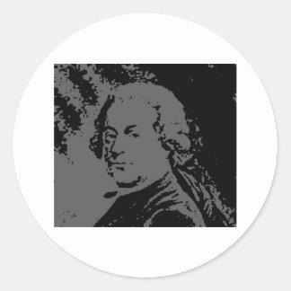 John Adams silhouette Round Stickers