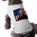 John Adams y la bandera americana Ropa De Mascota
