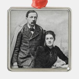 John Addington Symonds  and His Daughter, 1891 Metal Ornament